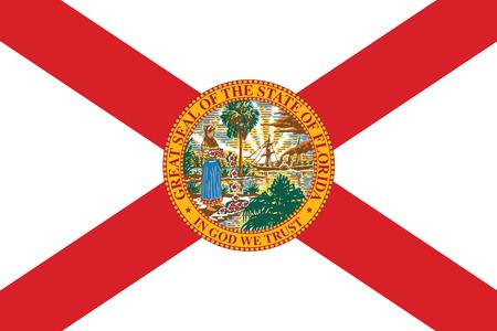 Drapeau État de Floride, États-Unis. Format Vecteur