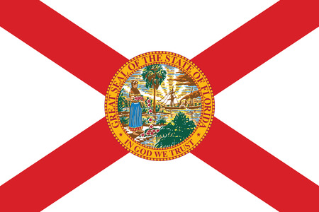 Florida State Flag, USA. Vector Format Фото со стока - 69275621