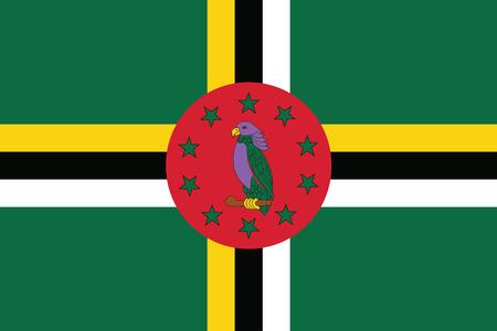Dominica Flag. Vector Format