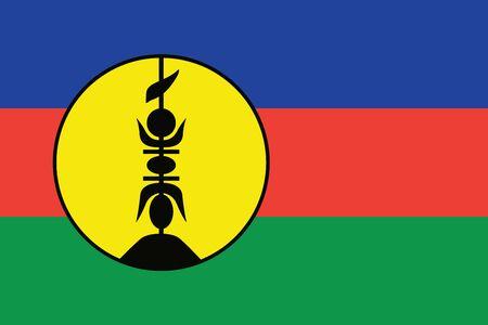 New Caledonia Flag. Vector Format Illustration