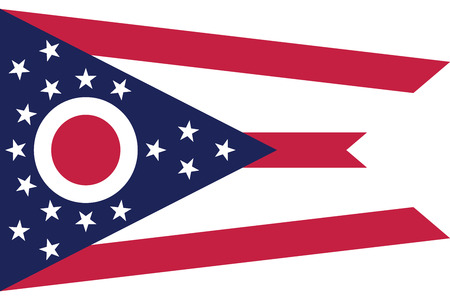 Ohio State Flag, USA. Vector Format