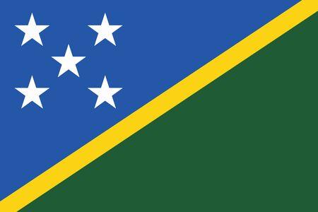 solomon: Solomon Islands Flag. Vector Format
