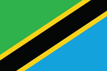 tanzania: Tanzania Flag. Vector Format