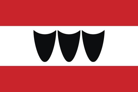 trebic: Flag of Trebic, Czechia. Vector Format