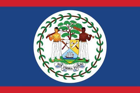 Belize Flag. Vector Format Vetores