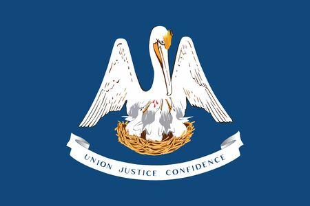 Louisiana State Flag, USA. Vector Format