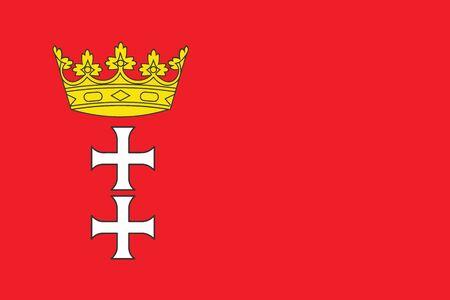 gdansk: Flag of Gdansk, Poland. Vector Format Illustration