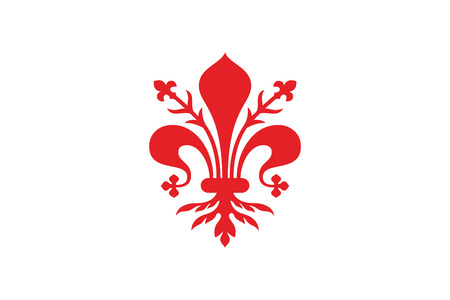 education policy: Flag of Florence, Italy. Vector Format