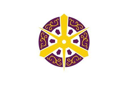 Flag of Kyoto, Japan. Vector Format
