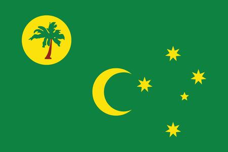 cocos: Flag of Cocos Islands. Vector Format