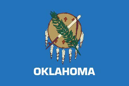 oklahoma: Flag of Oklahoma State, USA. Vector Format