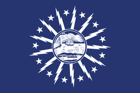 Flag of Buffalo, New York, USA. Vector Format