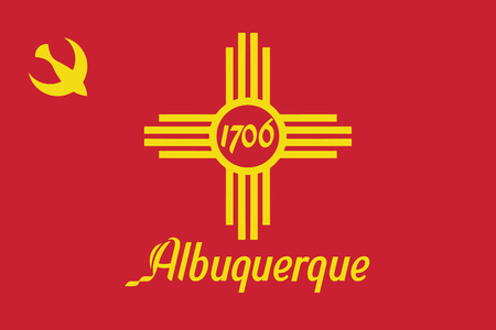 albuquerque: Flag of Albuquerque, New Mexico, USA. Vector Format Illustration