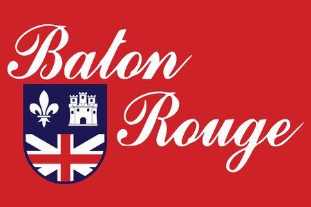 baton rouge: Flag of Baton Rouge, Louisiana, USA. Vector Format