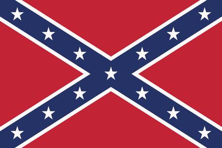 Confederate Flag. Vector Format Illustration