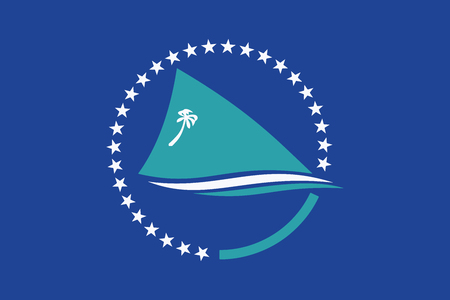 education policy: Flag of the Pacific Community. Vector Format Illustration