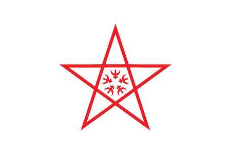 nagasaki: Flag of Nagasaki, Japan. Vector Format