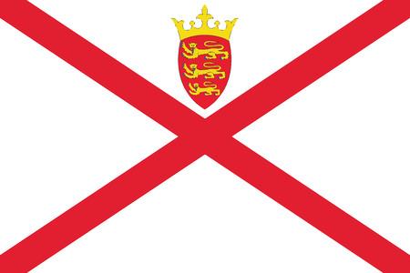 Flag of Jersey. Vector Format Illustration
