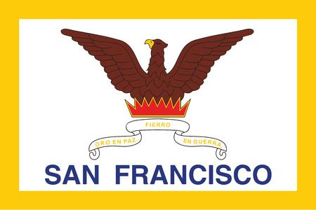 education policy: Flag of San Francisco, California, USA. Vector Format
