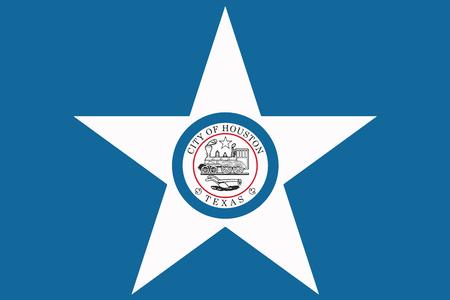 Flag of Houston, Texas, USA. Vector Format