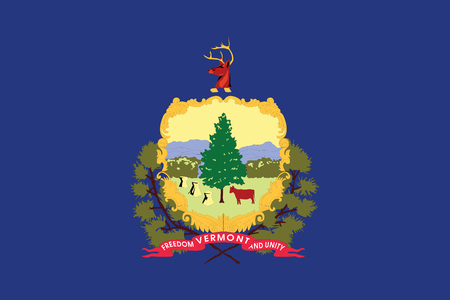Flag of Vermont State, USA. Vector Format