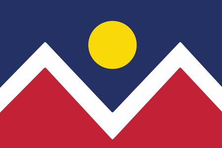 Flag of Denver, Colorado, USA. Vector Format