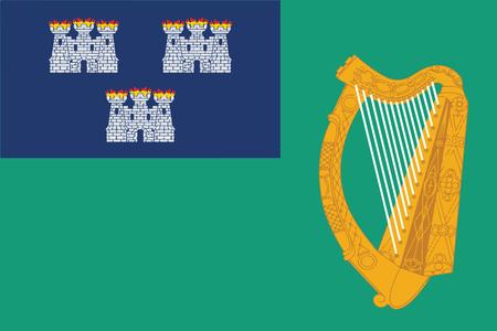 Flag of Dublin, Ireland. Vector Format