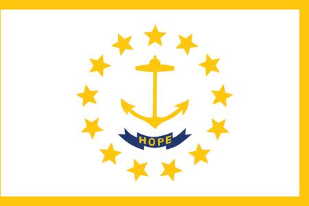Flag of Rhode Island. Vector Format