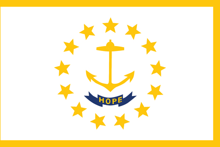 Flag of Rhode Island. Vector Format