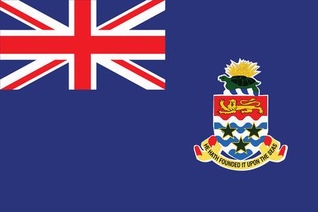 cayman: Flag of Cayman Islands. Vector Format