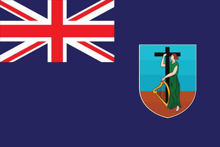 Flag of Montserrat. Vector Format