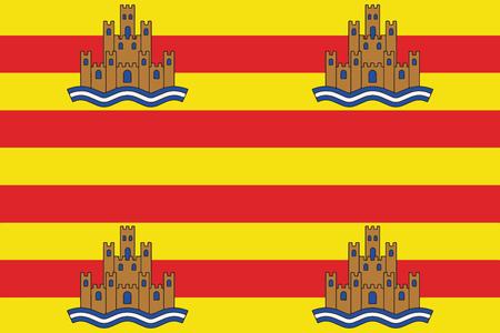 Flag of Ibiza, Spain. Vector Format Ilustrace