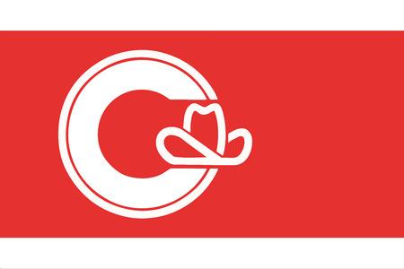 Flag of Calgary, Canada. Vector Format