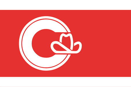 Flag of Calgary, Canada. Vector Format