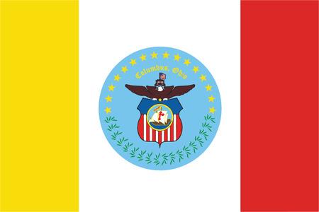 Flag of Columbus, Ohio, USA. Vector Format Illustration