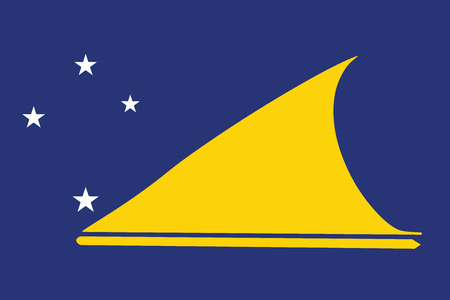 Flag of Tokelau. Vector Format