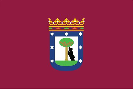 madrid: Flag of Madrid, Spain. Vector Format