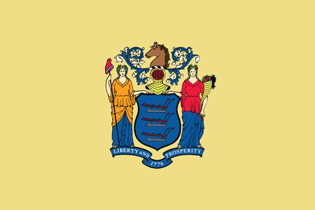 Flag of New Jersey State, USA. Vector Format