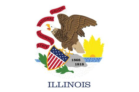 Flag of Illinois State, USA. Vector Format