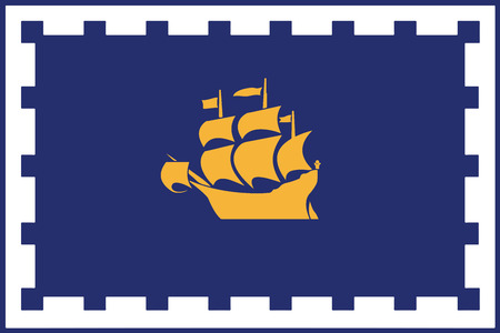 polity: Flag of Quebec City, Canada. Vector Format
