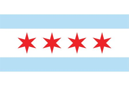 Flag of Chicago, Illinois, USA. Vector Format