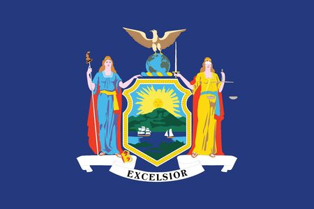Flag of New York State, USA. Vector Format