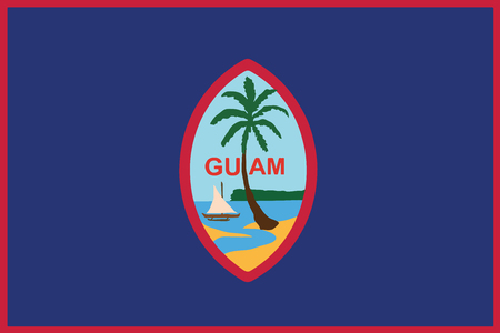 unincorporated: Flag of Guam. Vector Format