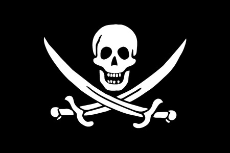 calico: Calico Jack Pirate Flag. Vector Format