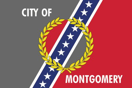 Flag of Montgomery, Alabama, USA. Vector Format Illustration