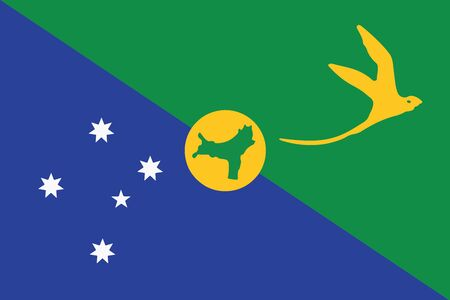 education policy: Flag of Christmas Island. Vector Format Illustration