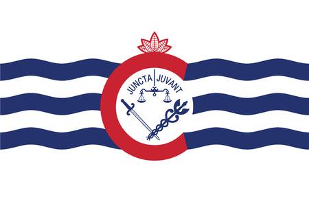 education policy: Flag of Cincinnati, Ohio, USA. Vector Format