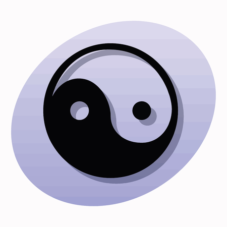 credence: Religious sign. Chinese religions. Yin Yang symbol of balance and harmony. Vector Format. Illustration