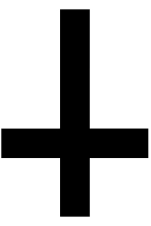 credence: Religious sign. Christianity. St. Peters Cross. Vector Format. Illustration
