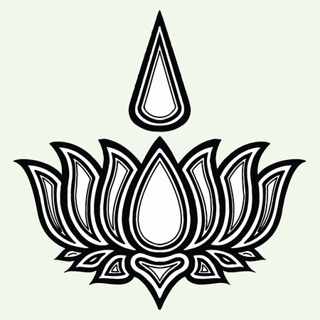 Religious sign. The symbol of Ayyavazhi. Vector Format. Illustration